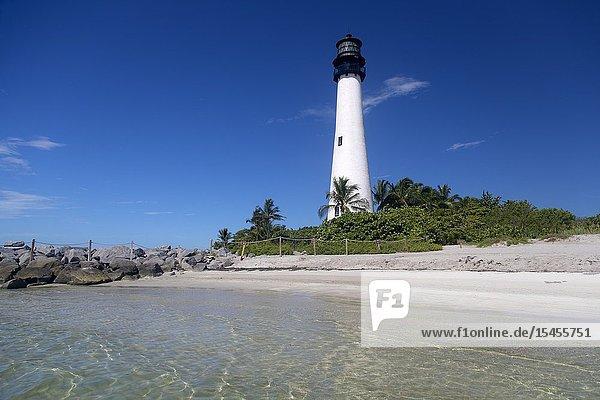 Key Biscaine lighthouse  Miami-Dade  Florida  USA..