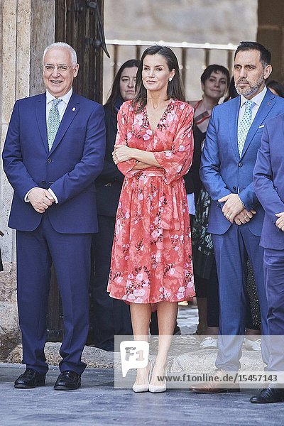 Queen Letizia of Spain attends Closing of the 2nd Seminar on Patrimonial Education in the School at International Center for the Research of the Spanish Language on July 5  2019 in San Millan de la Cogolla  Spain