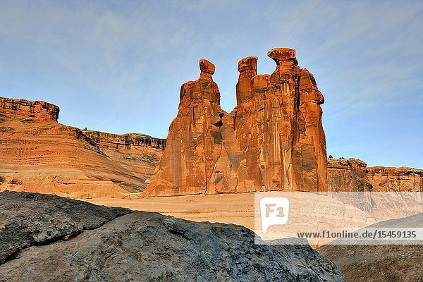 Gossips  Arches National Park  Utah.