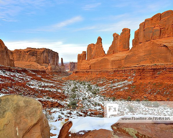 Wall Street  Winter  Arches National Park  Utah.