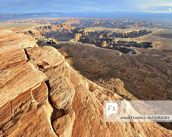 Grand View Point  Canyonlands National Park  Moab  Utah.