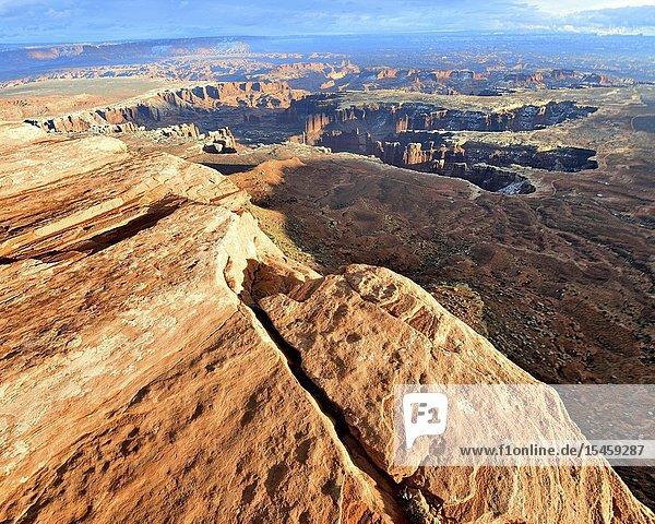 Grand View Point  Canyonlands National Park  Moab  Utah.