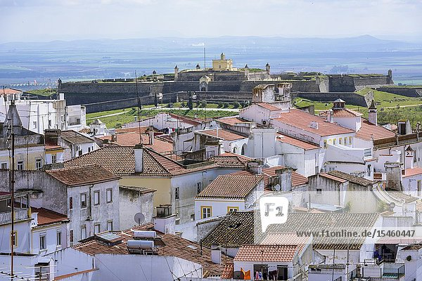 Fort of Santa Luzia  Garrison Border Town of Elvas and its Fortifications  Portalegre District  Alentejo Region  Portugal  Europe.