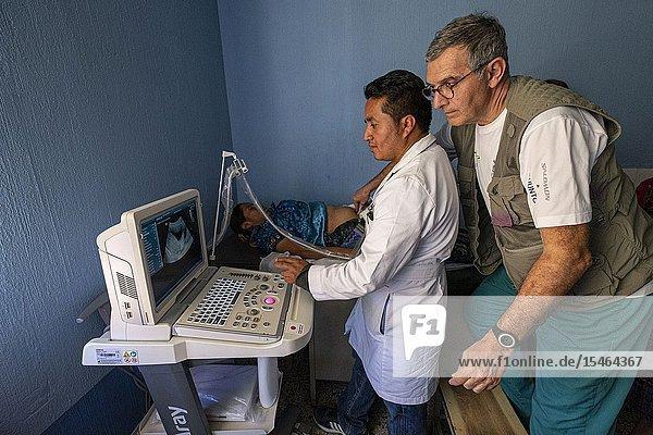 Formacion y enseñanza de ecografia  San Bartolomé Jocotenango  municipio del departamento de Quiché  Guatemala  America Central.
