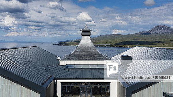 View of new Ardnahoe Distillery on island of Islay in Inner Hebrides of Scotland  UK.
