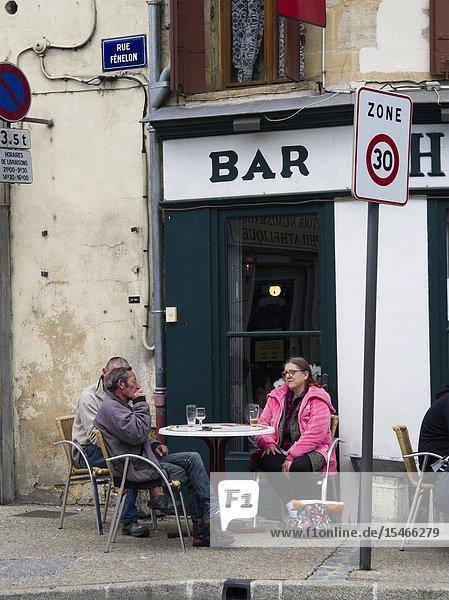 Vedry Bar  Place Soeur Madeleine  Bergerac  Dordogne Department  Nouvelle Aquitaine  France.