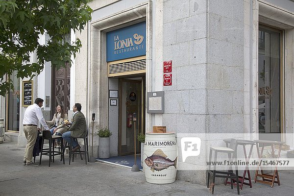 Lonja Restaurant  Plaza de Oriente Square  Madrid  Spain.