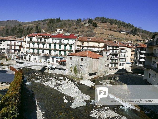 River  Camprodon  Girona  Spain.