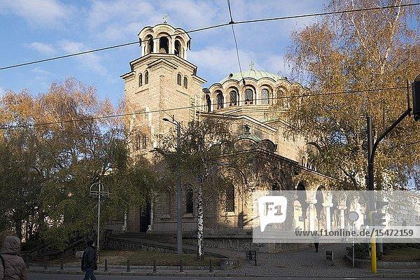 Bulgaria  Sofia  Town center  City view.