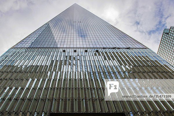 New York City  USA. The newly build Freedom Tower  erected on the site of the former Twin Towers.