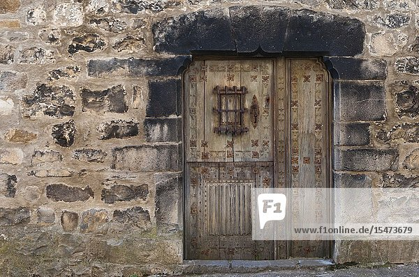 Window in rustic house in Aragon Pyrenees  Spain