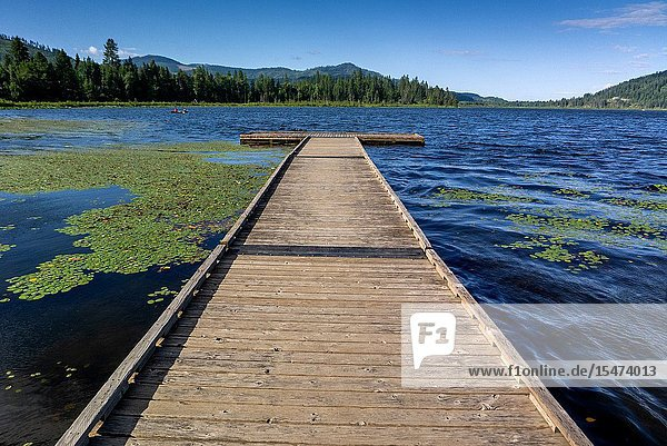 Rose Lake in North Idaho.