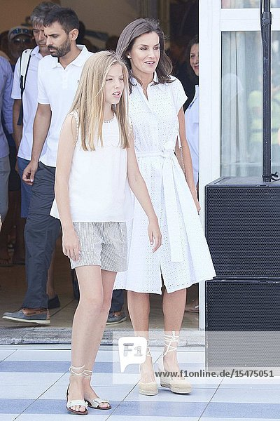 Queen Letizia of Spain  Princess Sofia is seen at Real Club Nautico during 38th Copa del Rey Mapfre Sailing Cup - Day 4 on August 1  2019 in Palma  Spain