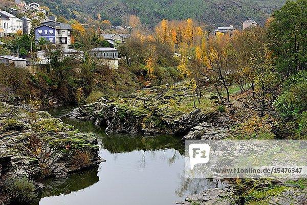 Sil river landscape  Sobradelo  Orense  Spain