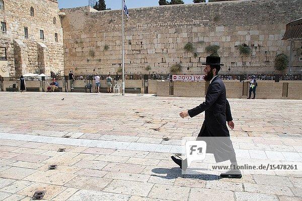 Courtyard at The Western Wall  Jerusalem  Israel.