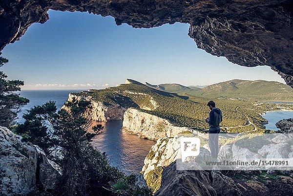 Vasi Rotti cave  Capo Caccia  Alghero  Sassari province  Sardinia  Italy  Europe.