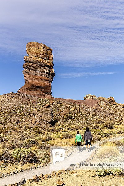 Spain Canary Islands Tenerife Teide National Park Chinchado rock.
