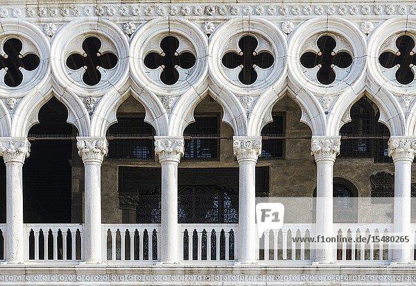 Detail of doge's palace  Venice  Veneto  Italy.