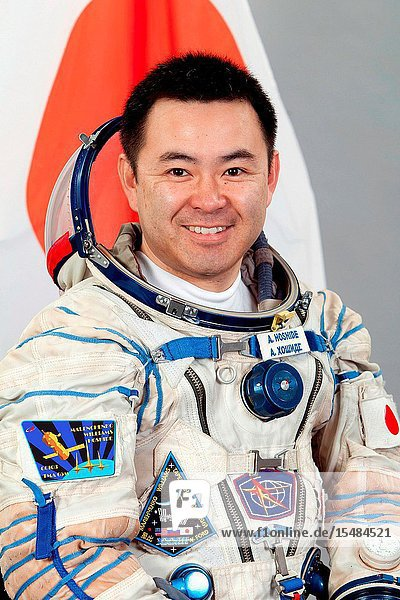 Japan Aerospace Exploration Agency (JAXA) astronaut Akihiko Hoshide  Expedition 3233 flight engineer  attired in a Russian Sokol launch and entry suit  takes a break from training in Star City  Russia to pose for a portrait. Photo credit: Gagarin Cosmonaut Training Center