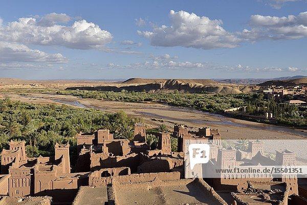 Ksar of Ait-Ben-Haddou  Ounila River valley  Ouarzazate Province  region of Draa-Tafilalet  Morocco  North West Africa.