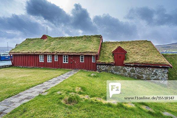 Tinganes  Tórshavn old town  Streymoy  Faroe Islands  Denmark  Europe.