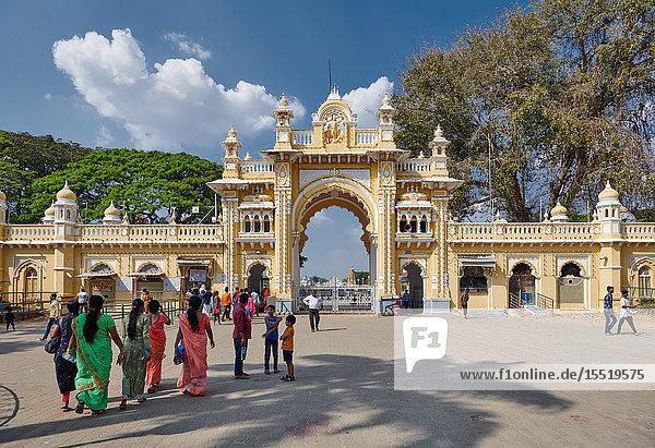 Gate  Amba Vilas  Mysore  Karnataka  India