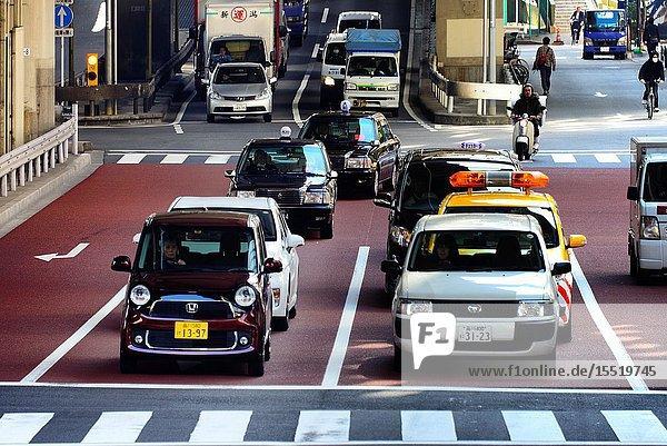 Hakozaki junction of Metropolitan Expressways 6 and 9  near Tokyo City Terminal  Nihonbashi-Hakozaki-cho  Chuo   Chuo-ku  Tokyo  Japan