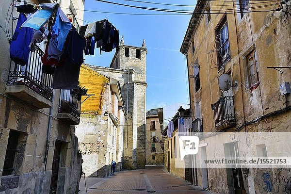 Miranda de Ebro - historic part of the city  Burgos province  Castile and León  on the border with the province of Alava and the autonomous community of La Rioja  Spain  Europe