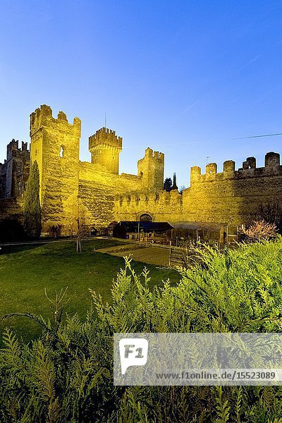 The Scaligero castle in Lazise. Verona province  Veneto  Italy  Europe.