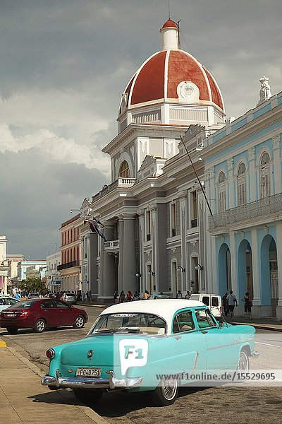 View to the Goverment House-Palacio Del Gobierno at Jose Marti Park  Cienfuegos  Cuba