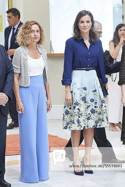 Queen Letizia of Spain attends Presidency of the '3rd Conference on Informative Treatment of Disability' at National Commission of Markets and Competition Headquarters on September 5  2019 in Madrid  Spain