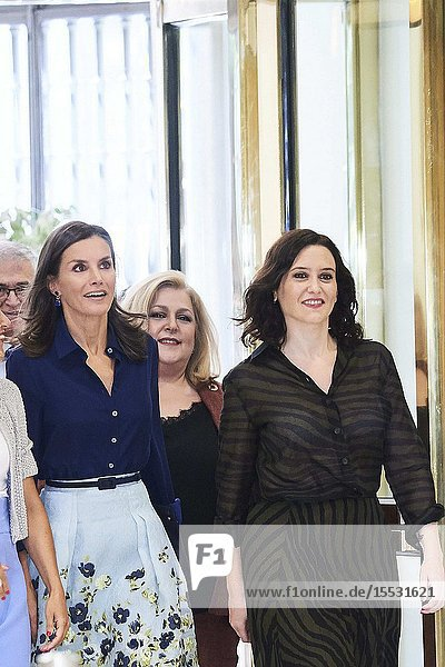 Queen Letizia of Spain  Isabel Diaz Ayuso attends Presidency of the '3rd Conference on Informative Treatment of Disability' at National Commission of Markets and Competition Headquarters on September 5  2019 in Madrid  Spain