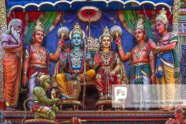 Singapore  Sri Krishnan hindou Temple.