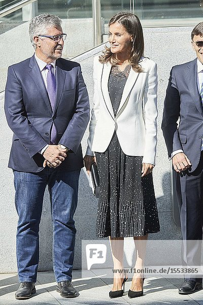 Queen Letizia of Spain attends Working meeting: 'The inclusion of disability in the media' at Ilunion Tower on September 10  2019 in Madrid  Spain