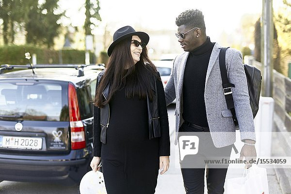 Couple outdoors  in Munich  Germany