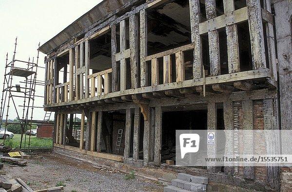 Timber frame building restoration Middleton Hall  Tamworth  UK.