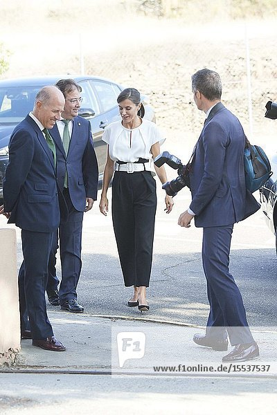 Queen Letizia of Spain attends the Opening of the School Year 2019/2020 at 'Batalla de Pavia' School on September 17  2019 in Torrejoncillo  Spain