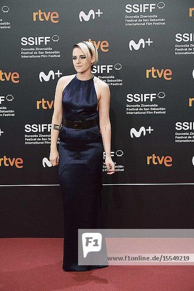 Kristen Stewart attended Opening Ceremony during 67th San Sebastian Film Festival at Kursaal Palace on September 21,  2019 in San Sebastian,  Spain
