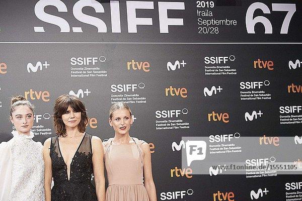 Denise Gough  Raffey Cassidy  Malgorzata Szumowska attended 'The other lamb' Premiere during 67th San Sebastian Film Festival at Kursaal Palace on September 23  2019 in San Sebastian  Spain