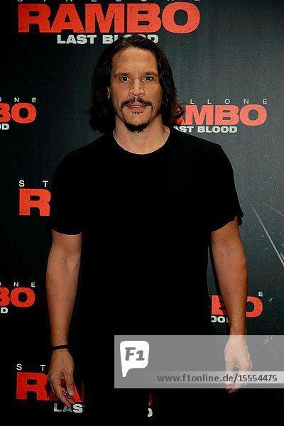 Actor Sergio Peris-Mencheta in the photocall of the movie Rambo: last Blood.September 26  2019 Madrid