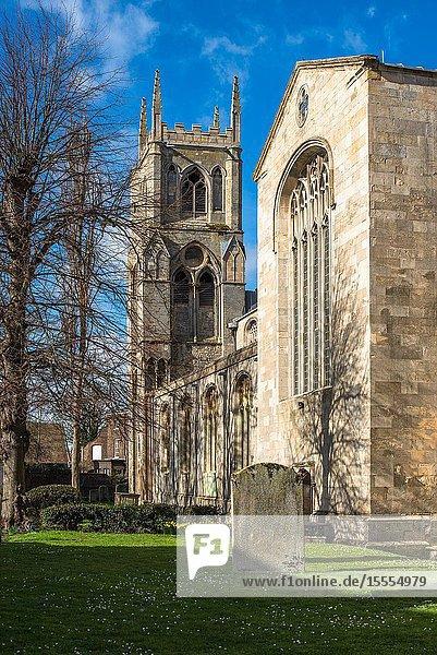 St Margarets church aka Kings Lynn Minster  Kings Lynn  Norfolk  UK.