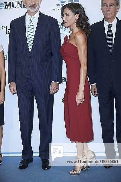 Queen Letizia of Spain attend the Commemoration of the 30th anniversary of 'El Mundo' newspaper at Palace Hotel on October 1  2019 in Madrid  Spain