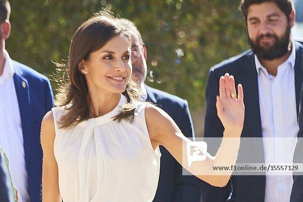 Queen Letizia of Spain visit Los Alcazares (Murcia) after the September floods on October 4  2019  Spain