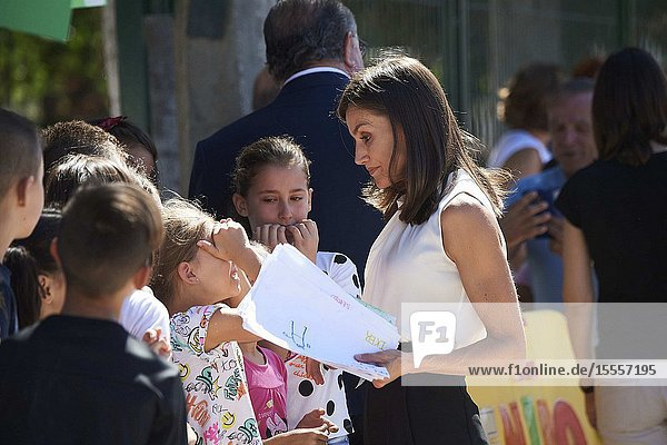 Queen Letizia of Spain visit Orihuela (Alicante) after the September floods on October 5  2019  Spain
