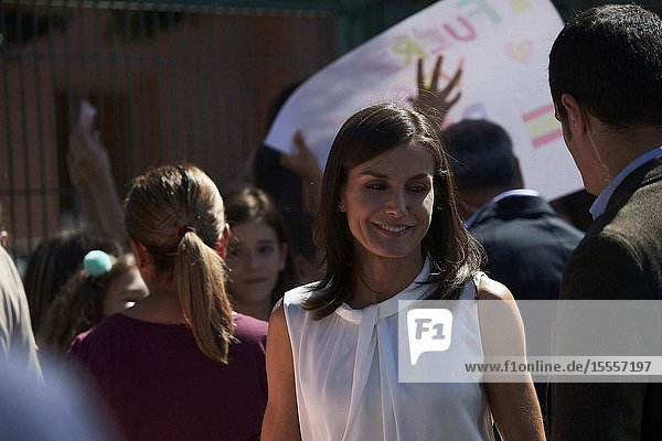 Queen Letizia of Spain visit Orihuela (Alicante) after the September floods on October 5  2019  Spain
