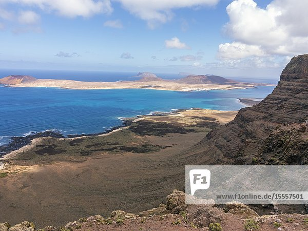 Funny Island fron the viewpoint of the Snows. Lanzarote. Canary Islands. Spain. Europe.