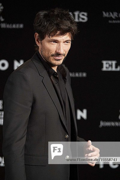 Andres Velencoso attends ICON Awards 2019 at Real Fabrica de Tapices on October 9  2019 in Madrid  Spain