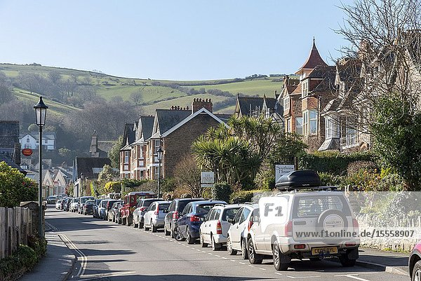 Lynton  North Devon  England  UK. March 2019. The small town of Lynton situated within Exmoor National Park in north Devonshire