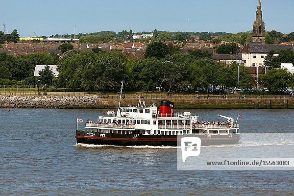 MV Royal Iris. Ferry crossing the Mersey River. Merseyside. Liverpool England UK.