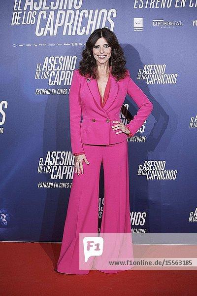 Maribel Verdu attends 'El asesino de los caprichos' premiere at Verdi Cinema on October 15  2019 in Madrid  Spain